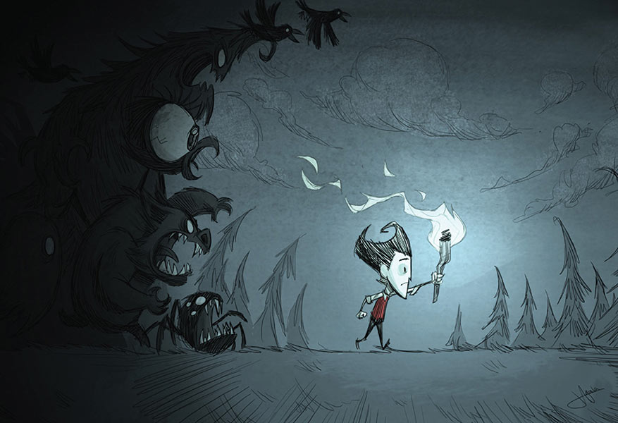 charity-art-13x19-posters-gaam-fantasy-_0008_eye-for-games---don't-starve---Jeff-Agala