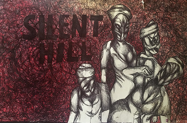 """Nurses"" (Silent Hill) by Jenipher Mendoza Chosen Charity: St. Jude Children's Research Hospital"