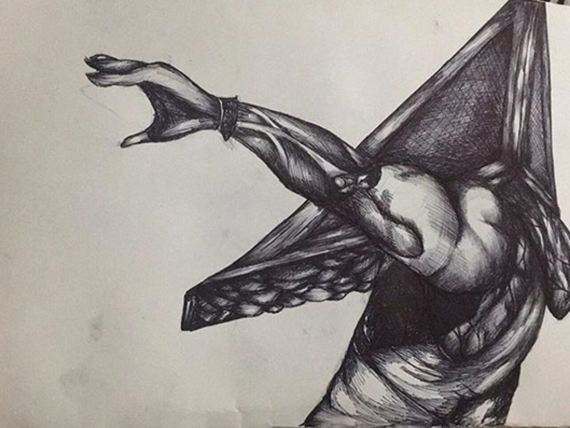"""""""Pyramid head"""" (Silent Hill 2) by Jenipher Mendoza for First Coast No More Homeless Pets"""