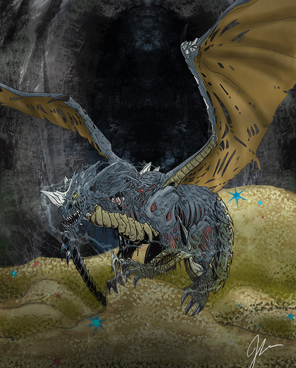 """""""Blue dragon"""" (Dungeons and Dragons) by Jesus Rodriguez for St Jude's Cospital"""