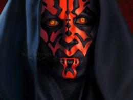 """""""Darth Maul"""" (Star Wars) by Kaitlyn Iversen Art for Rethreaded"""