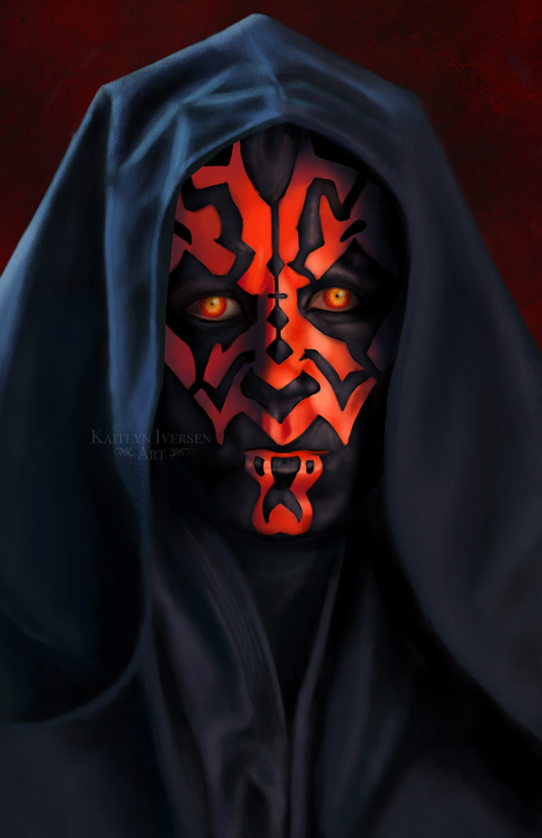 """Darth Maul"" (Star Wars) by Kaitlyn Iversen Art for Rethreaded"