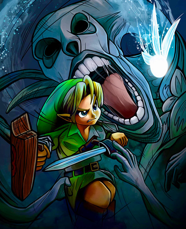 """Bottom of the Well"" from Ocarina of Time by Mike-Groe"