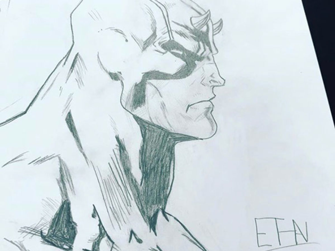 """Daredevil (black and white)"" by Ethan Trujillo"