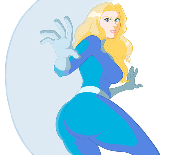 """Sue Storm - Invisible Woman"" by Terrell Tolliver for Extra Life"