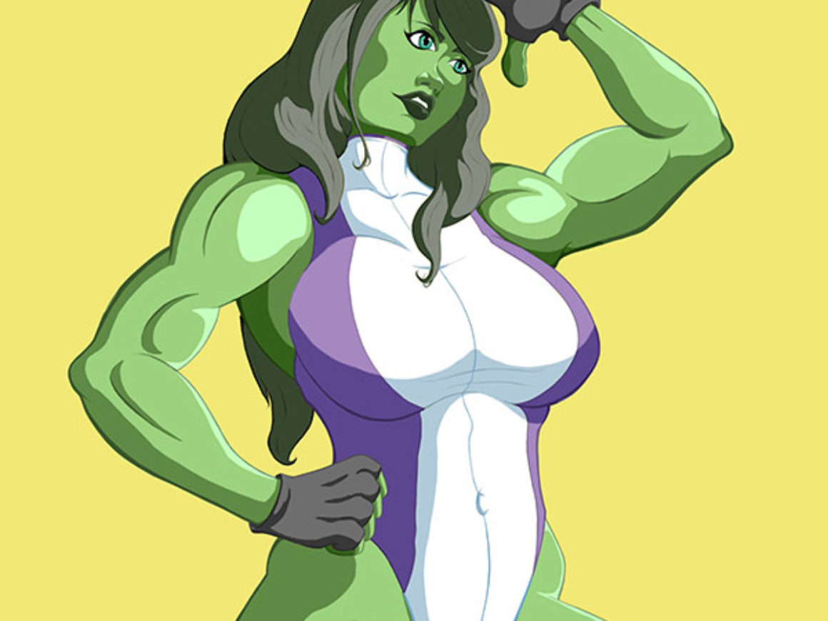 """She-Hulk"" by Terrell Tolliver for Extra life"