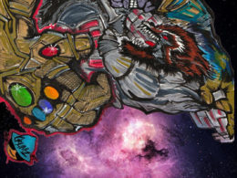 """ThanosVsRocket"" by CRUMZArt for Extra Life Jacksonville"