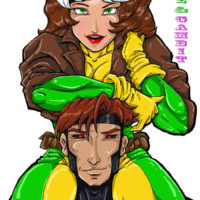 """""""The Ragin Cajun and the Southern Belle Rogue and Gambit"""" by McKenzie Morris for St Judes Childrens Hospital"""
