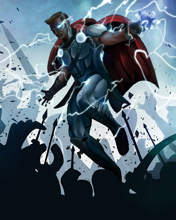 """Thor Ragnarok"" by Mike Groe for Extra Life"