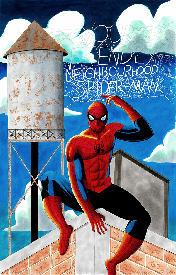 """Your Friendly Neighborhood Spider-Man"" by Hikaru Muto for First Coast No More Homeless Pets"