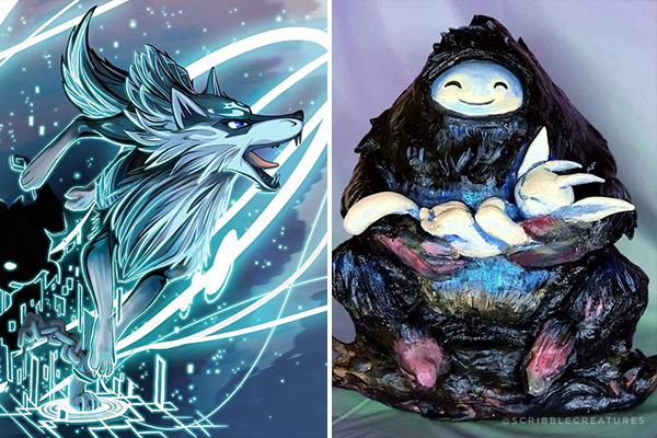 """Gaming Animals"" Art Duel"