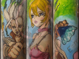 """""""Dr. Stone Hand painted Tumbler"""" by Ciara Wright"""