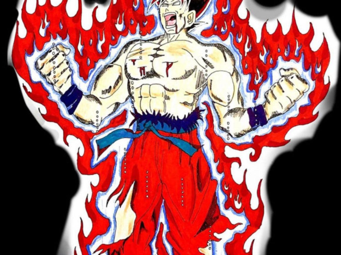 """Goku - Ultra Instinct Kaioken"" by Kyle McLemore"
