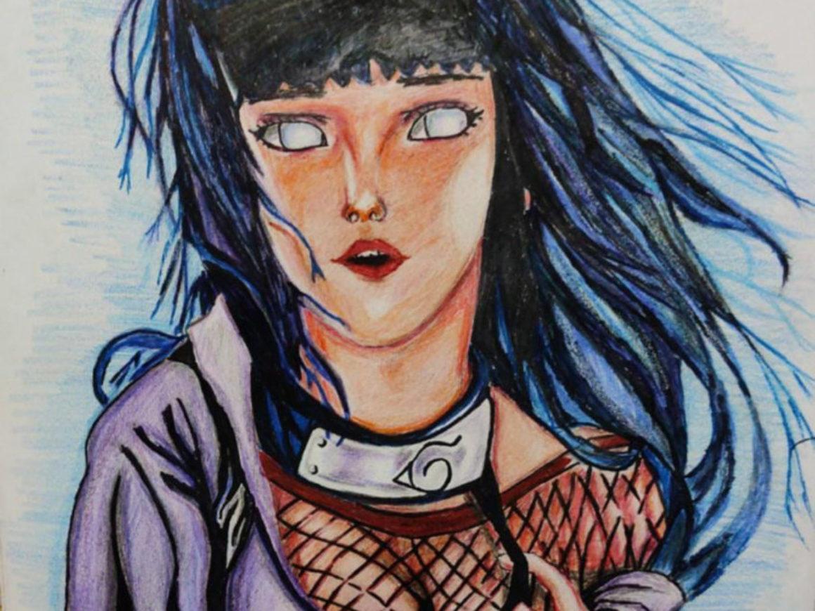"""""""Hinata Hyuga Pencil/Sketch Pen Art"""" by Shambaditya Sarkar"""