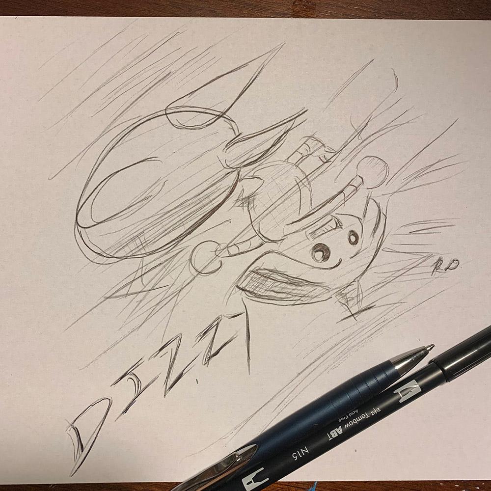 """""""Hitmontop dizzy"""" by Ryan Domondon"""