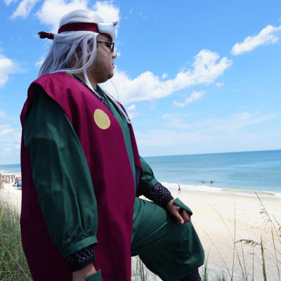 """Jiraiya at the beach"" by Holden Red Fire Dragon Cosplayer"