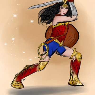 """Wonder Woman Strikes a Pose"" by Christina Johnson"