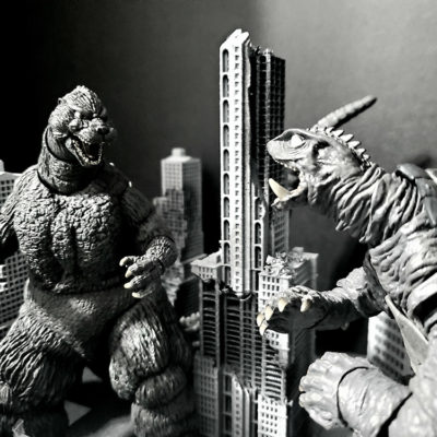 """Godzilla, King Of The Monsters Vs Gamera, Guardian Of The Universe"" by Dalton Fairbanks"