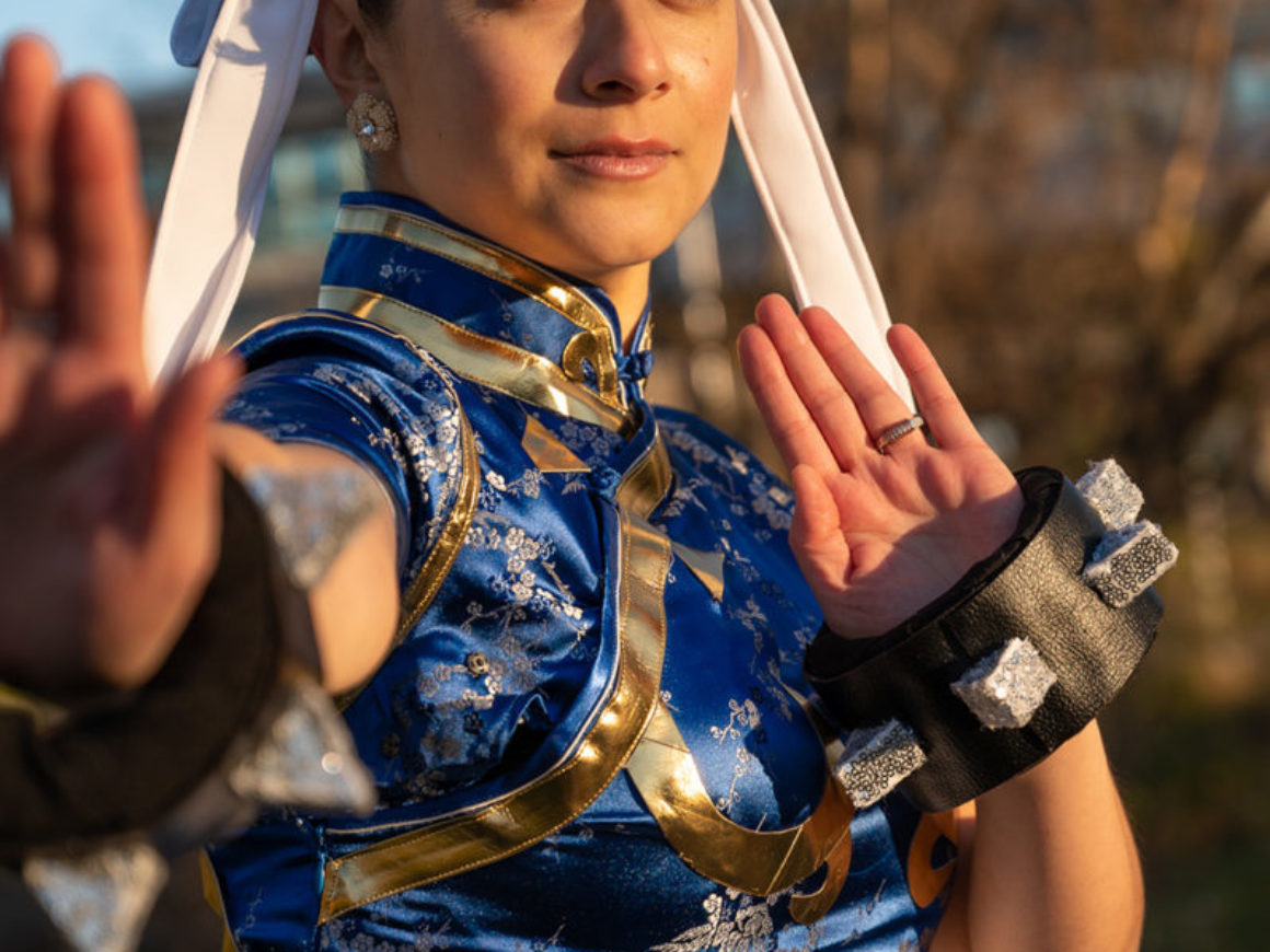 """Zen sunset with Chun-Li"" by Angelita Aboukassam"